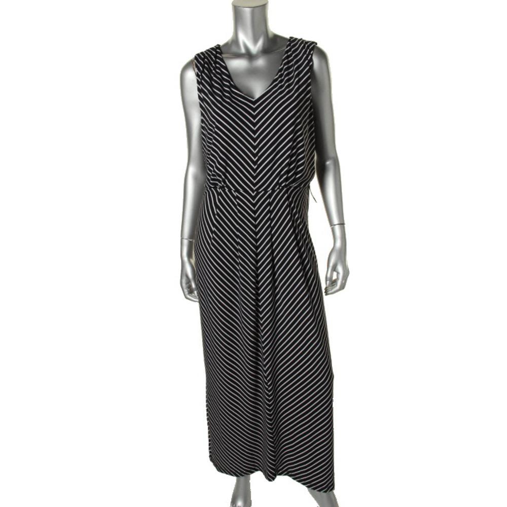 Alfani Matte Jersey V-Neck Maxi Dress