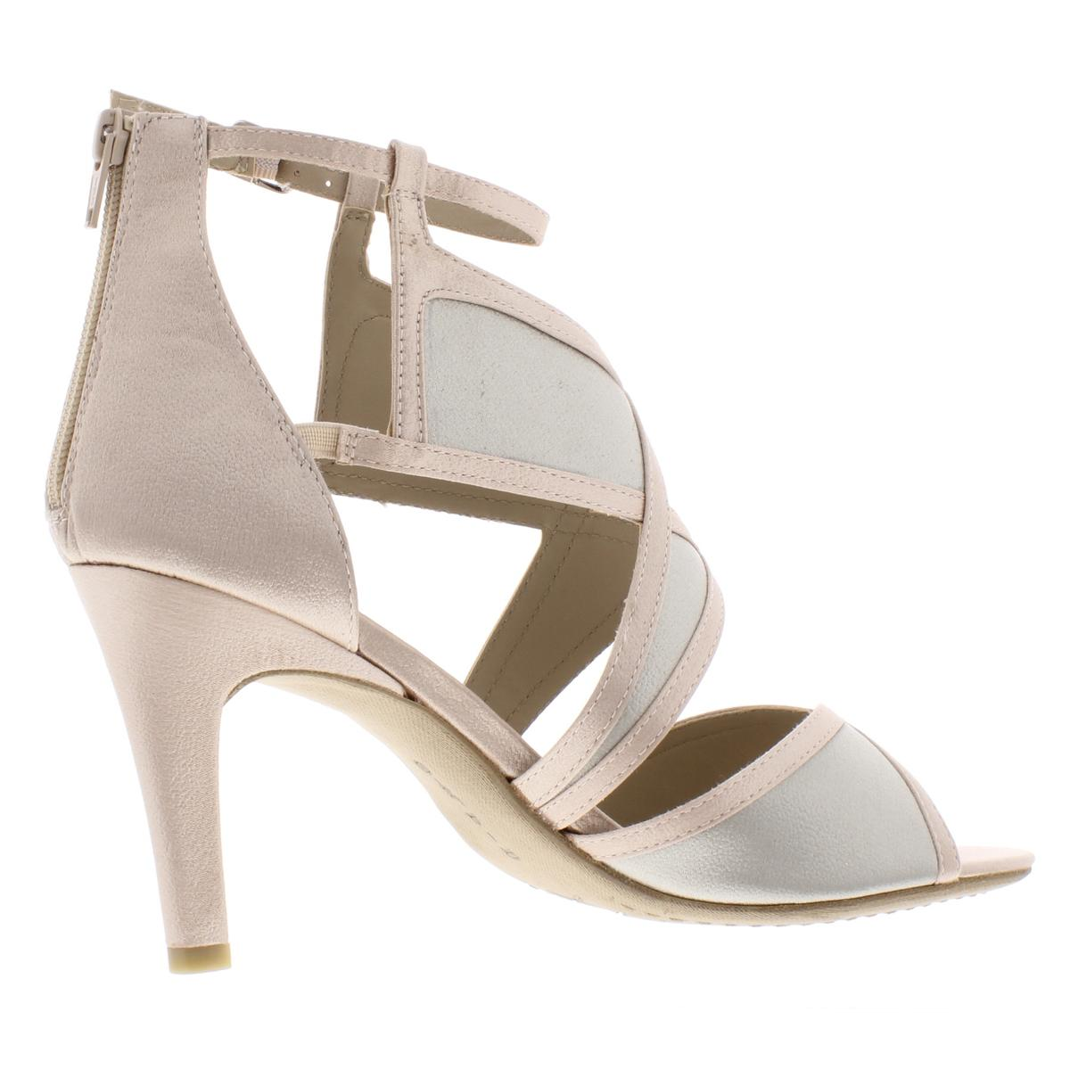 Rialto Womens Ria Faux Suede Strappy Ankle Strap Dress Sandals Heels BHFO 7224