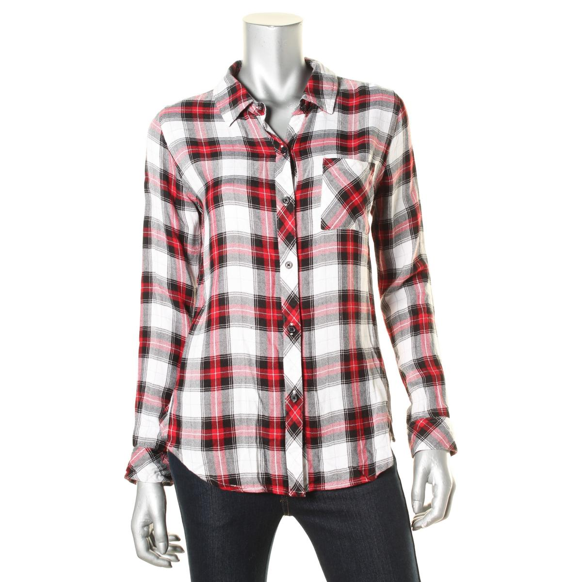 Rails 4606 Womens Hunter Plaid Long Sleeves Woven Button