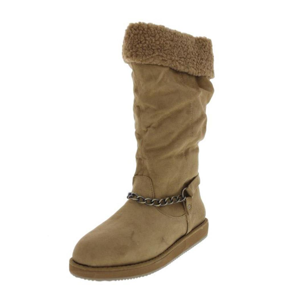 guess new horizan mid calf cuffed harness casual boots