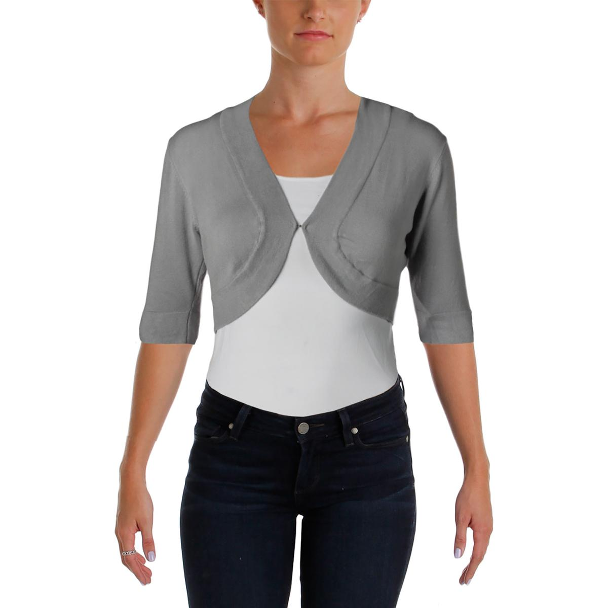 B. Darlin 5791 Womens Knit Cropped Open Front Cardigan Sweater Top ...