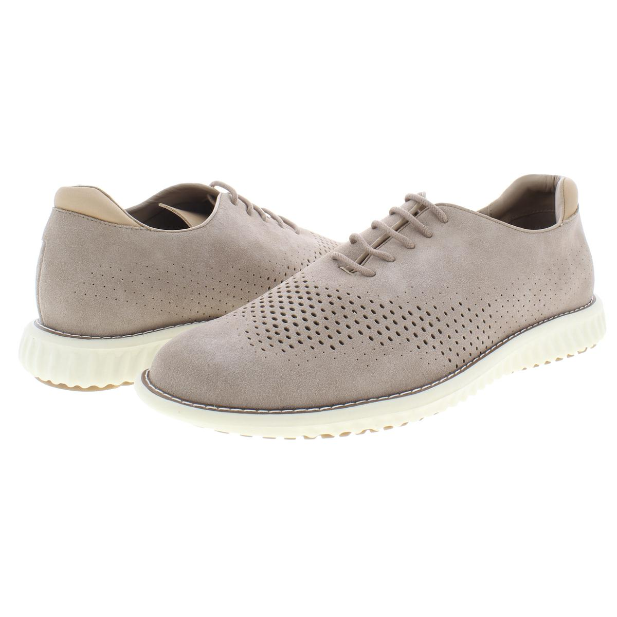 Steve Madden Mens Vaelen Suede Perforated Lace-Up Oxfords Sneakers BHFO 9910