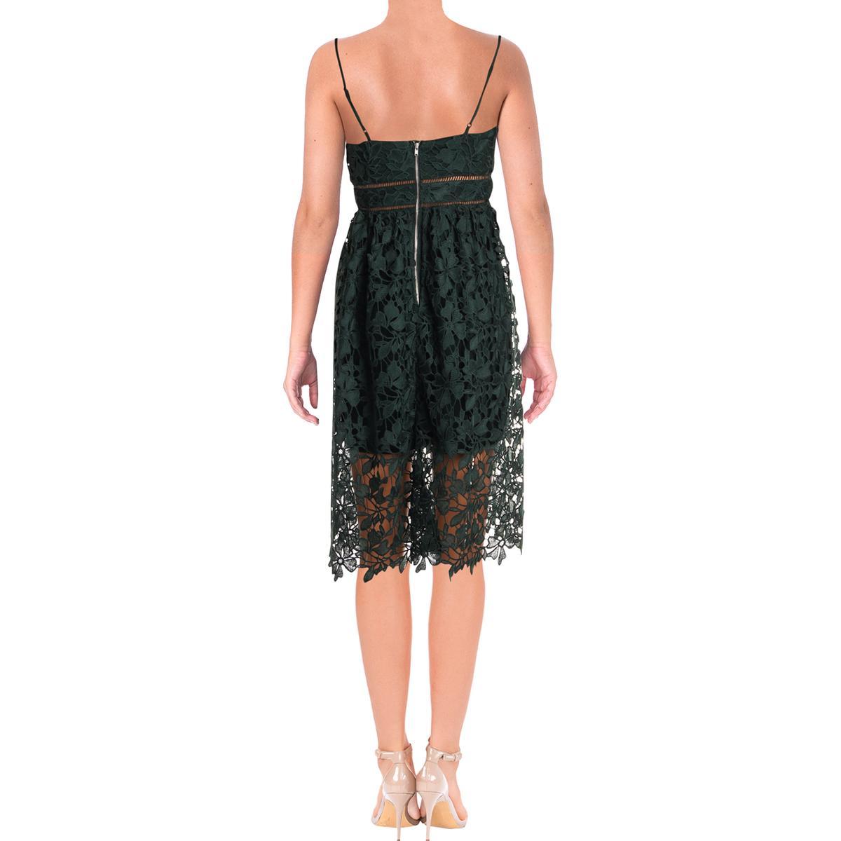 Bardot Womens Sonya Lace Overlay V-Neck Cocktail Party Dress BHFO 9829