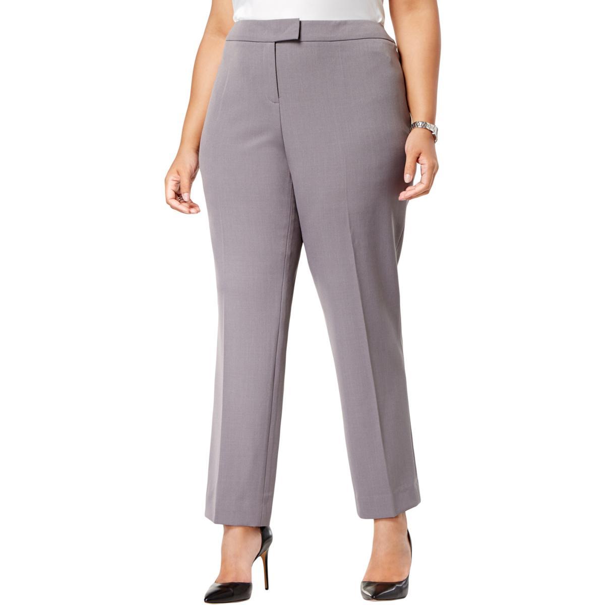 d497b6cc8a55d Anne Klein Plus Womens Straight Leg Professional Dress Pants