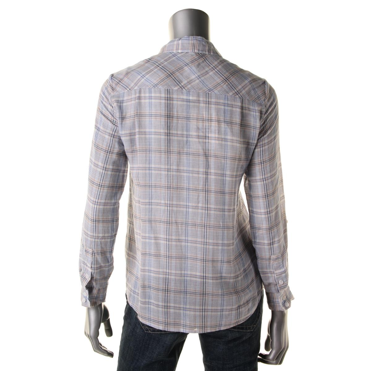Soft joie 4540 womens sequoia cotton plaid blouse button for Soft joie plaid shirt