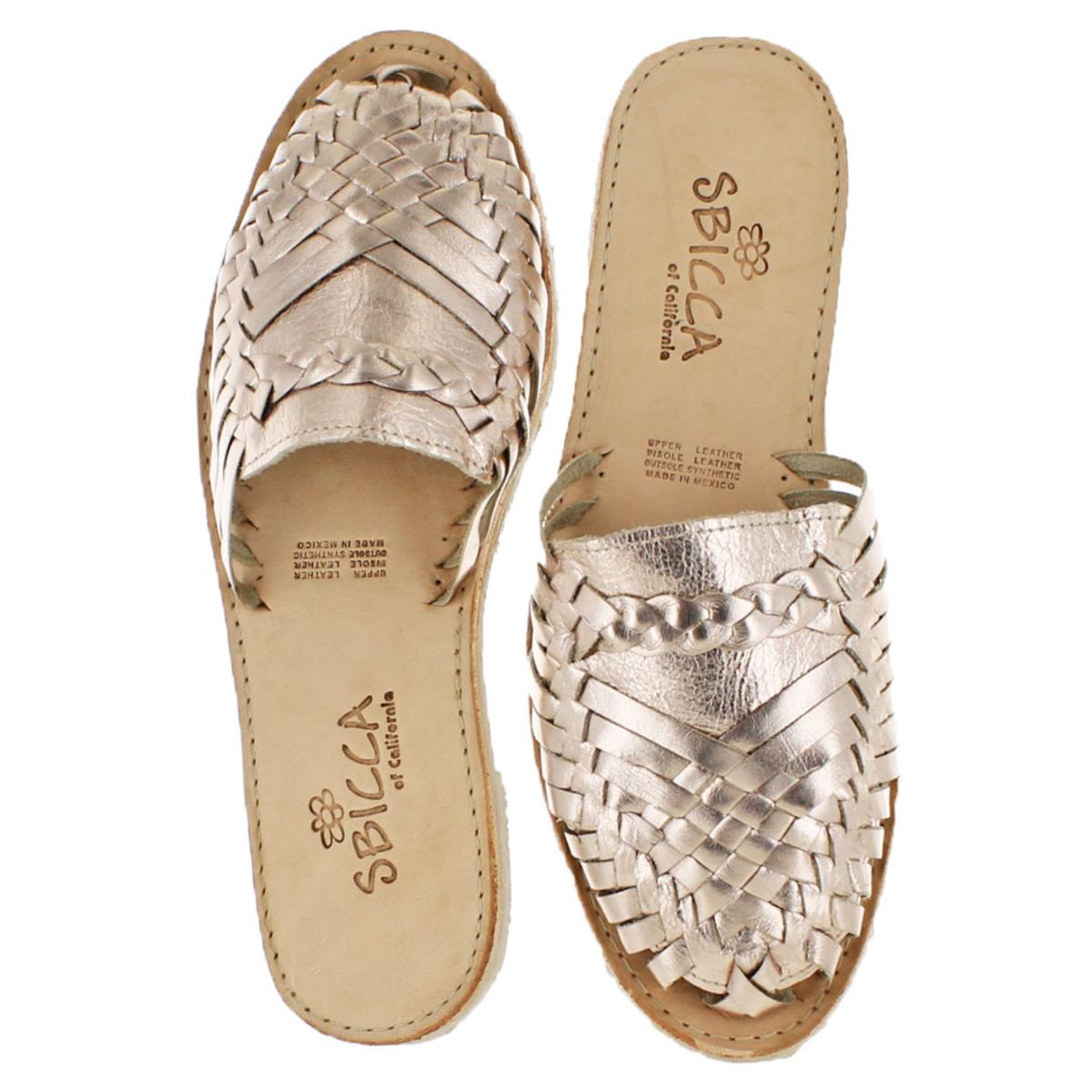 Sbicca Baines Women/'s Leather Woven Slip-On Vintage Flat Casual Sandals Shoes