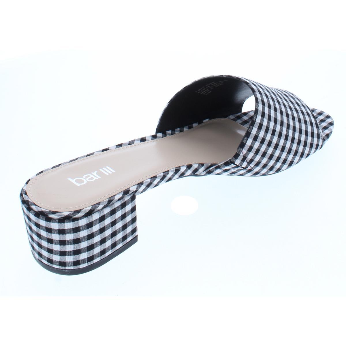 Bar III Womens Jane Padded Insole Open Toe Slide Sandals Shoes BHFO 6711