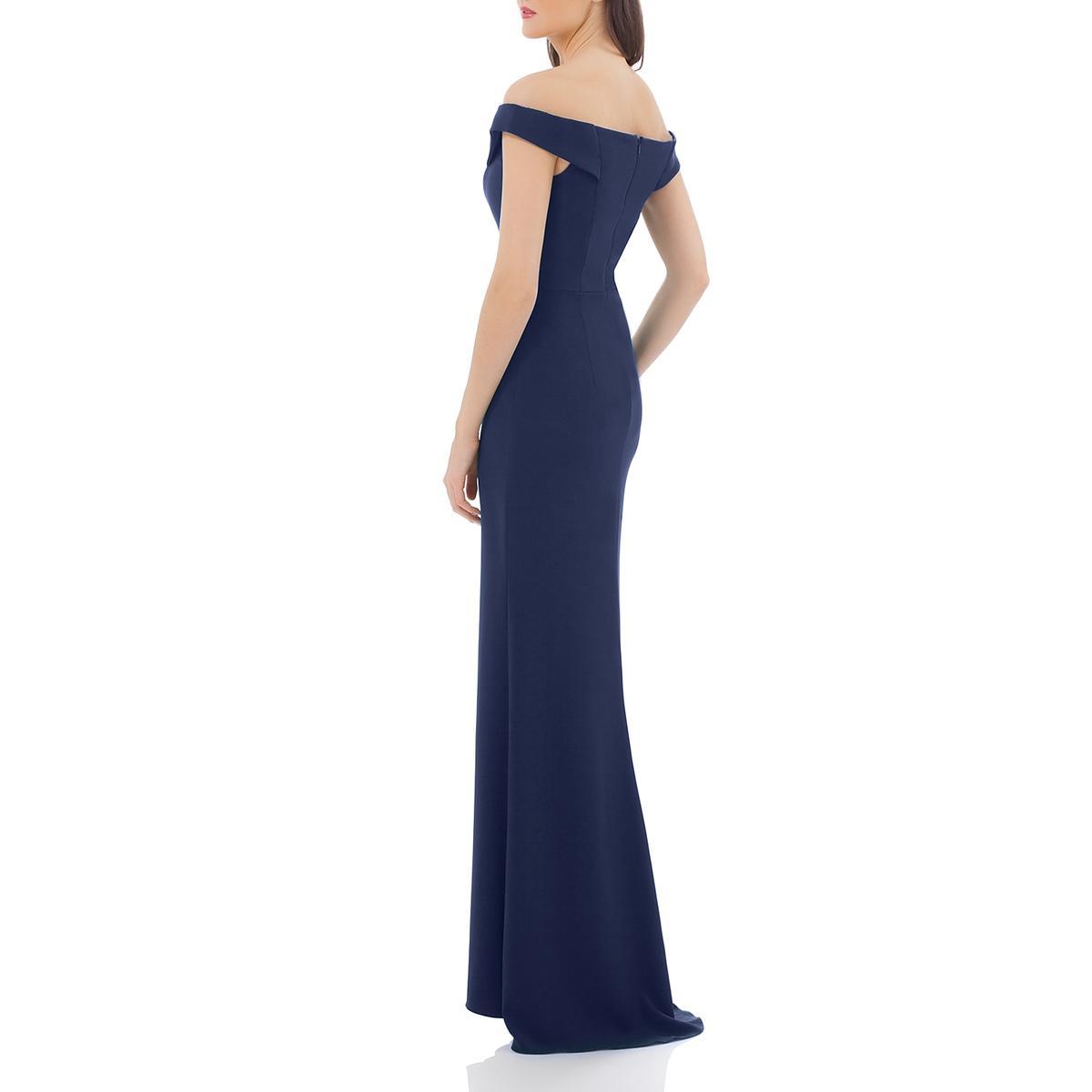 Carmen Marc Valvo Womens Off-The-Shoulder Sheath Evening Dress Gown BHFO 3432