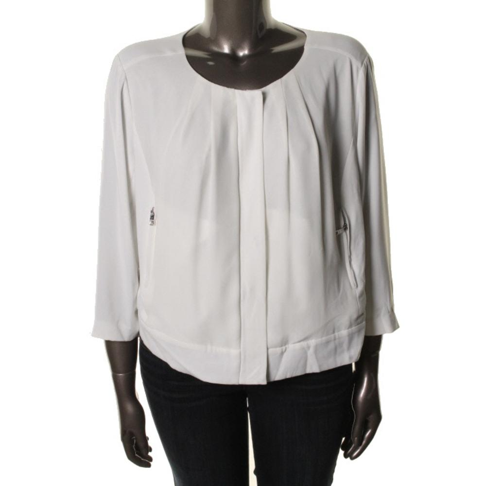 Zip Front Blouse Plus Size 36