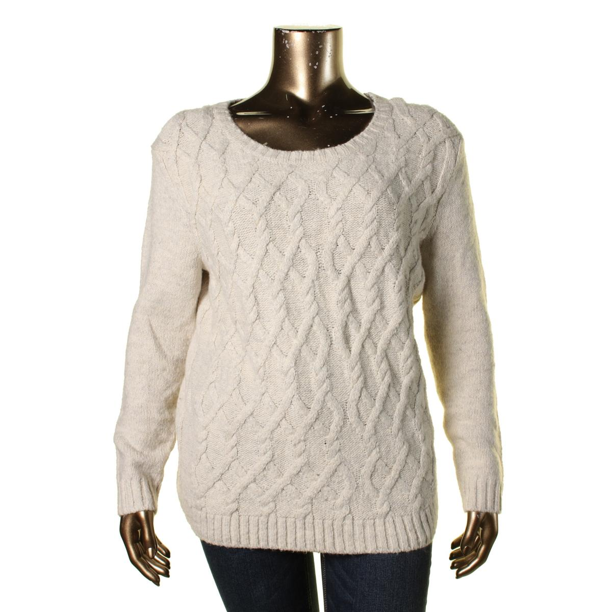 tommy hilfiger 2792 womens cable knit marled pullover sweater bhfo ebay. Black Bedroom Furniture Sets. Home Design Ideas