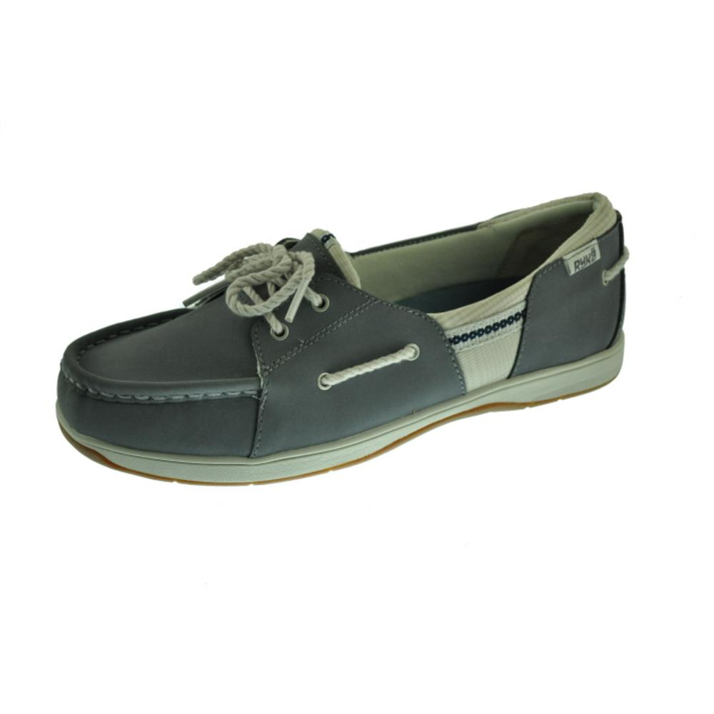 ryka new cayman blue leather slip on boat shoes athletic 8