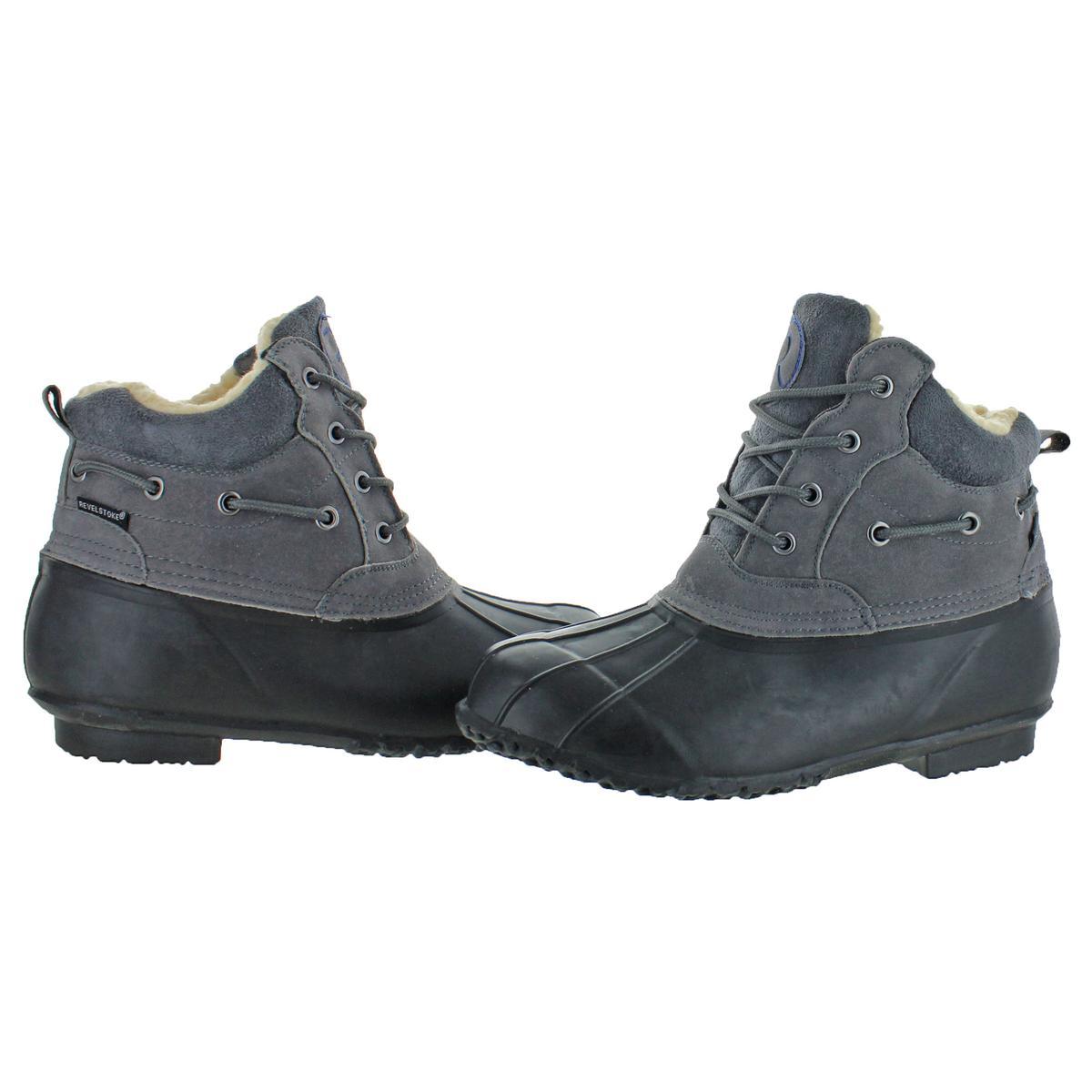 Revelstoke Men/'s Freeport Waterproof Cold Weather Duck Toe Winter Snow Boots
