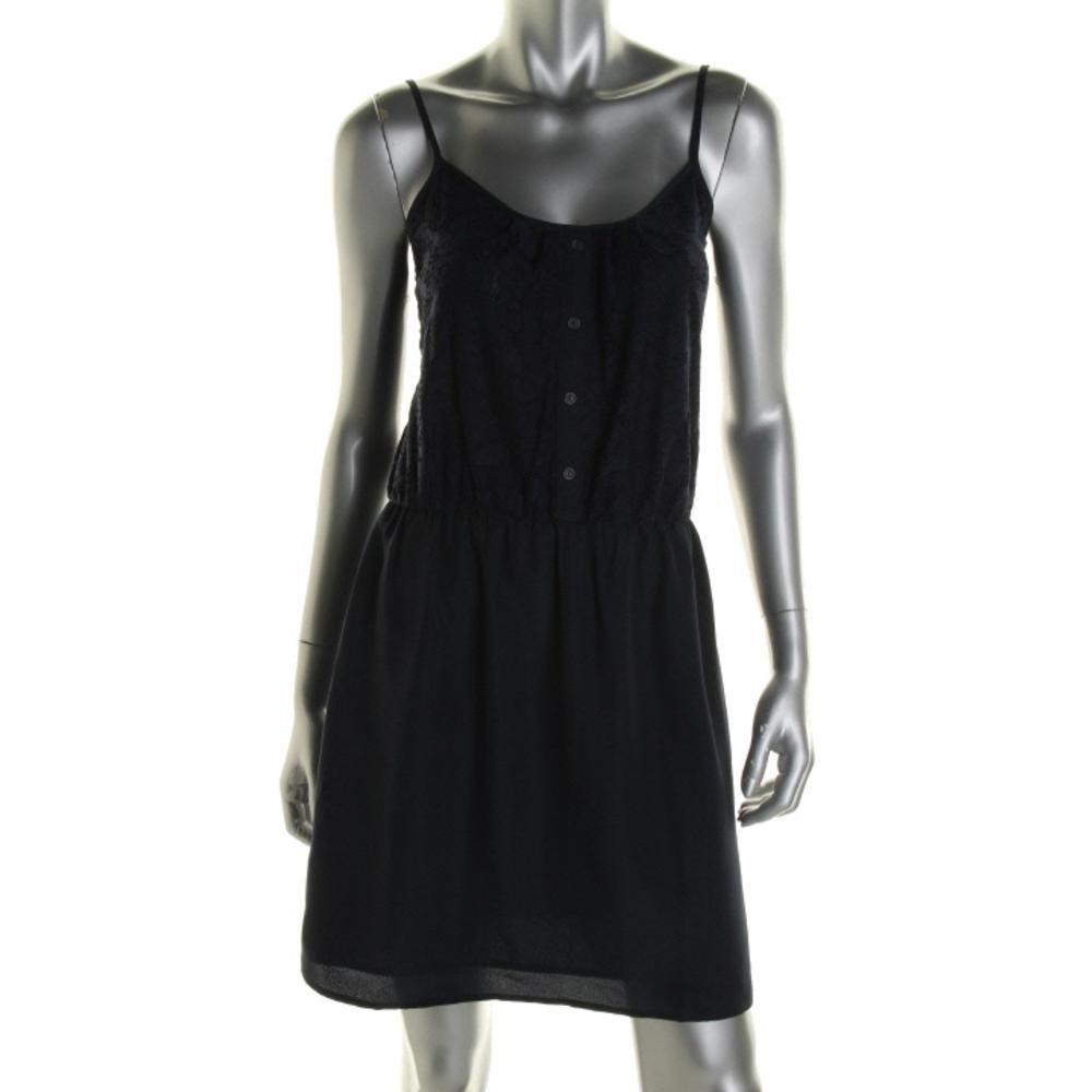 Aqua Lace Scoop Neck Casual Dress