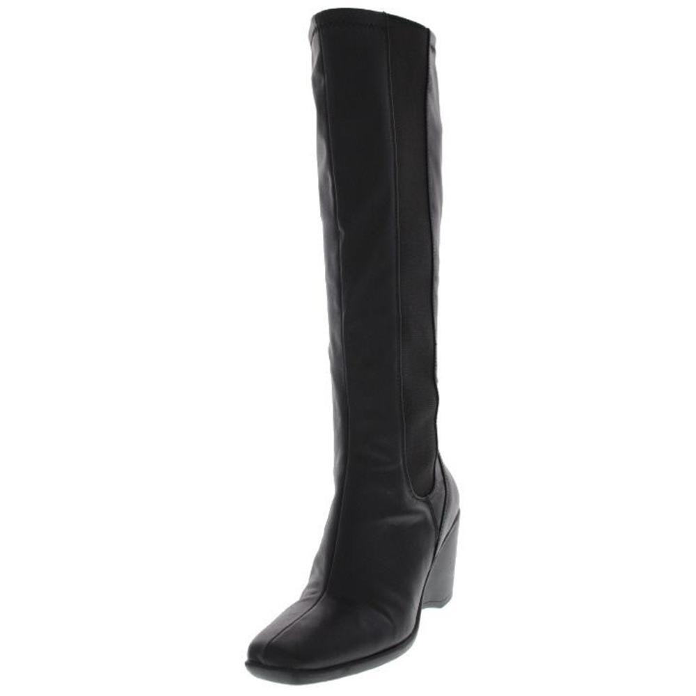 bandolino new meg black wedge stretch square toe knee high