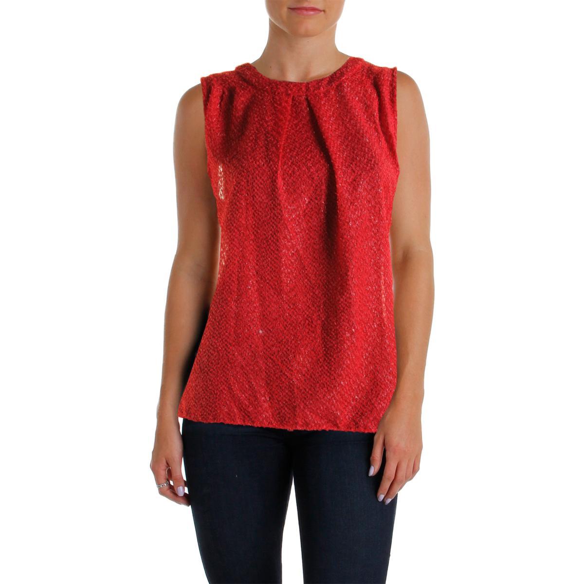 michael michael kors 8606 womens metallic textured pullover top blouse bhfo ebay. Black Bedroom Furniture Sets. Home Design Ideas