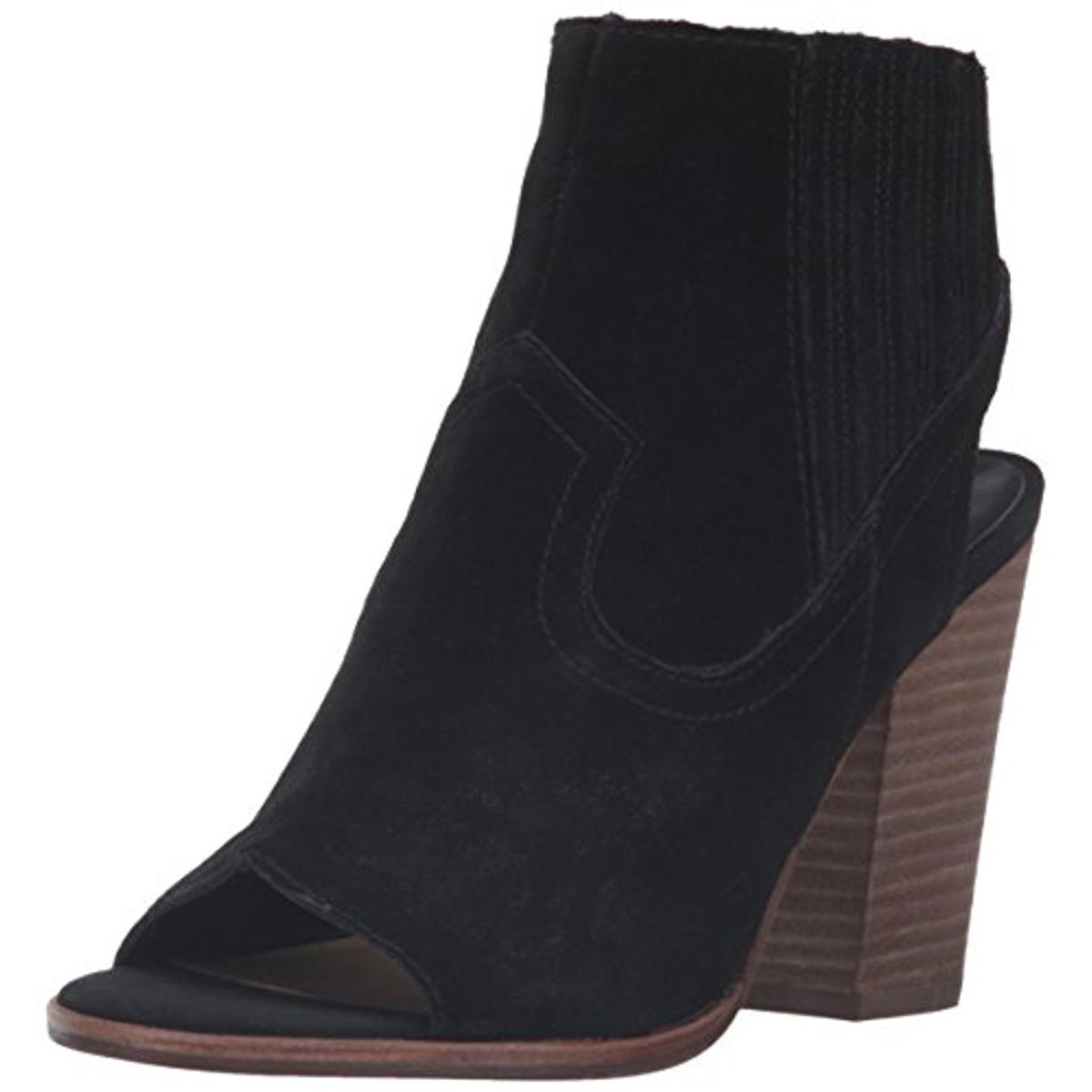 dolce vita 5954 womens pasha suede open toe booties ankle