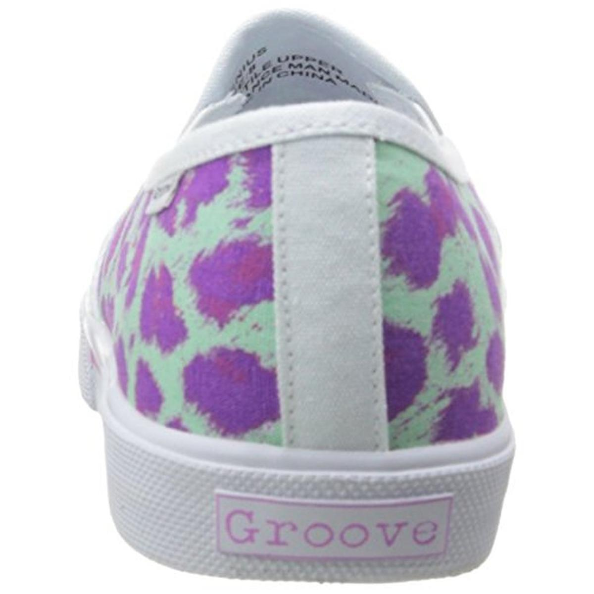 Groove Femme Genius Toile Enfiler Fashion Baskets Chaussures BHFO 3258