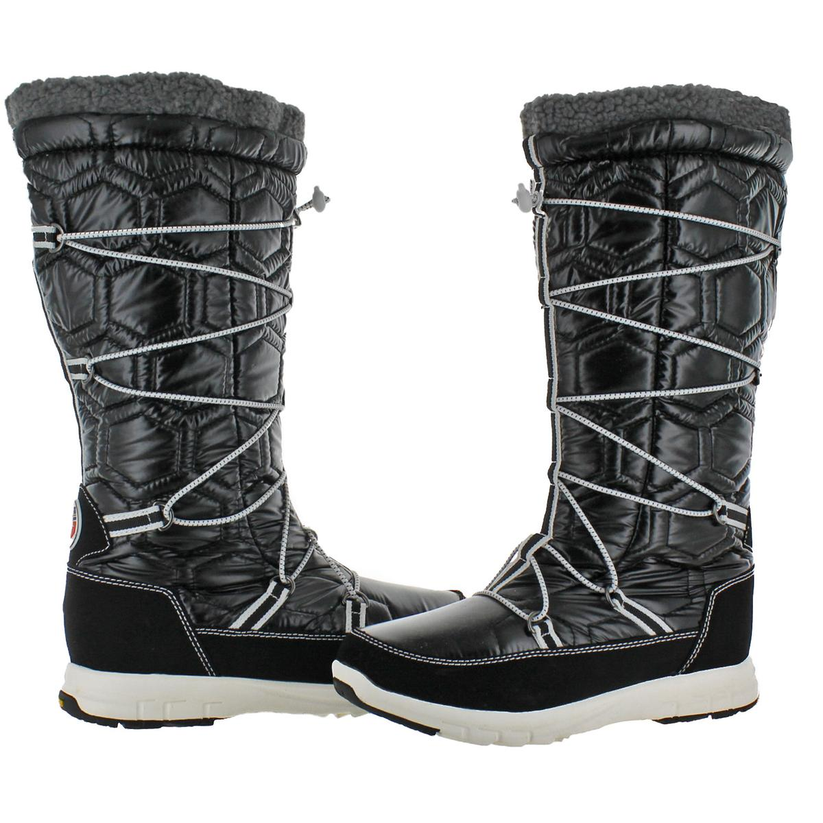 Khombu Women/'s Slalom Quilted Tall Waterproof Snow Winter Boots