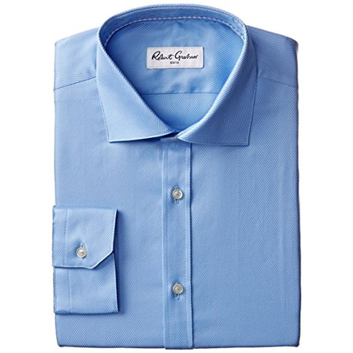 Robert Graham 9442 Mens Lambert Herringbone Tab Collar