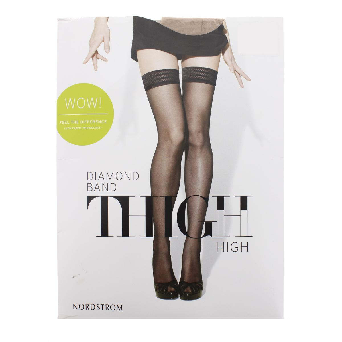 NORDSTROM Diamond Band Sheer Thigh-High Stockings