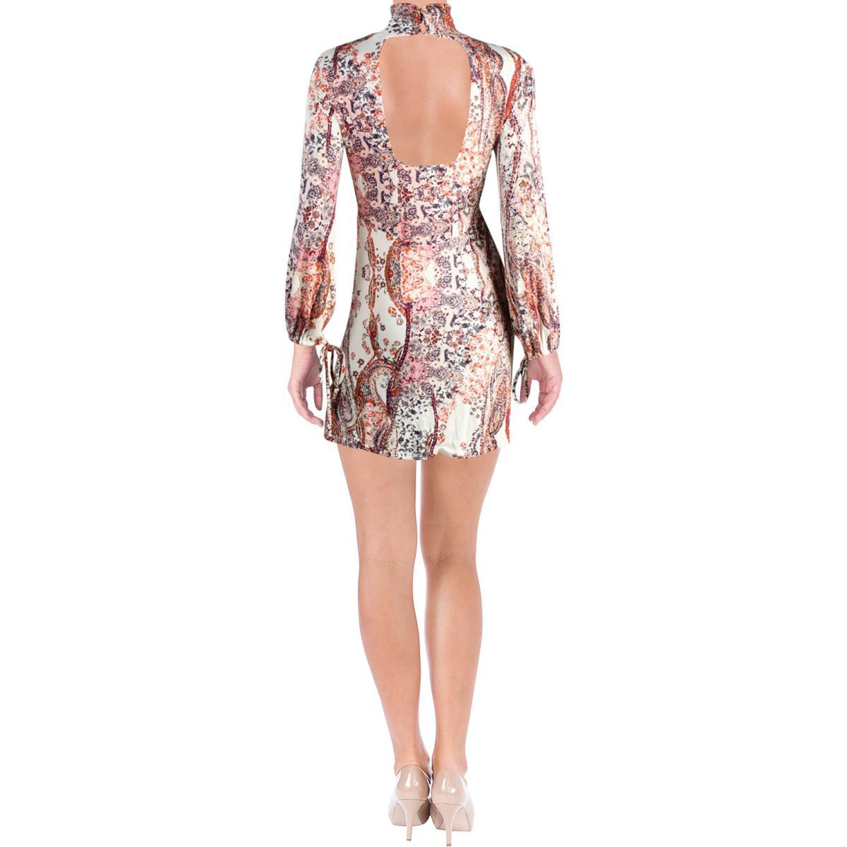 Free People Womens All Dolled Up Paisley High-Neck Boho Mini Dress BHFO 4196