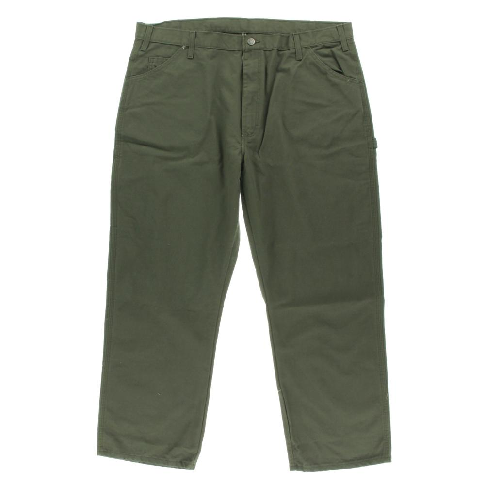 dickies 0254 new mens green cotton relaxed fit carpenter jeans 40 30 bhfo ebay. Black Bedroom Furniture Sets. Home Design Ideas