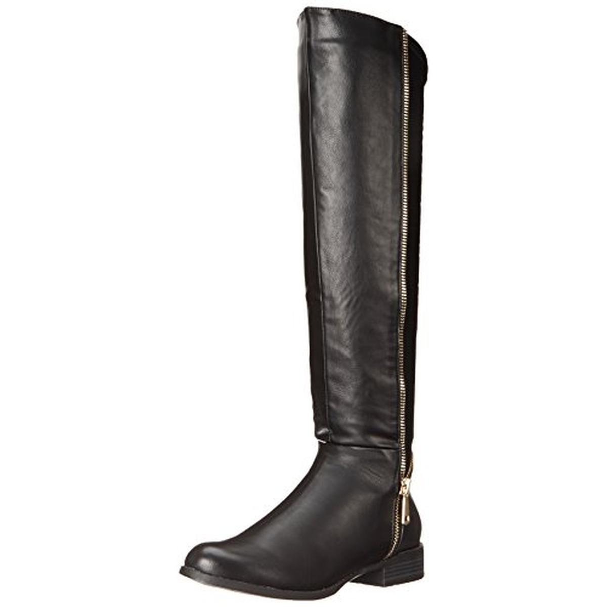 luichiny 1979 womens phone booth faux leather knee high