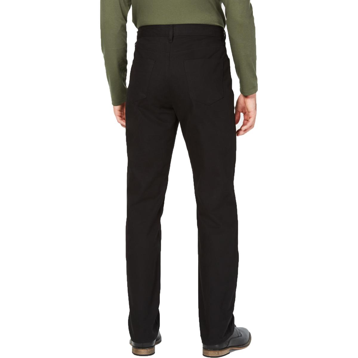 Alfani Mens Cotton Regular Fit High Rise Casual Pants BHFO 2464