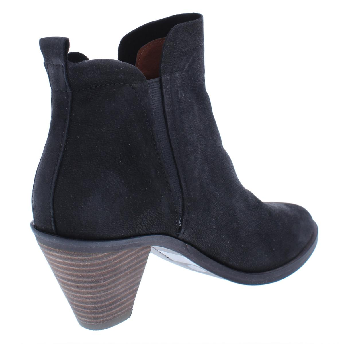 Lucky Brand Womens Jana Leather Stacked Heel Ankle Booties Shoes BHFO 6706