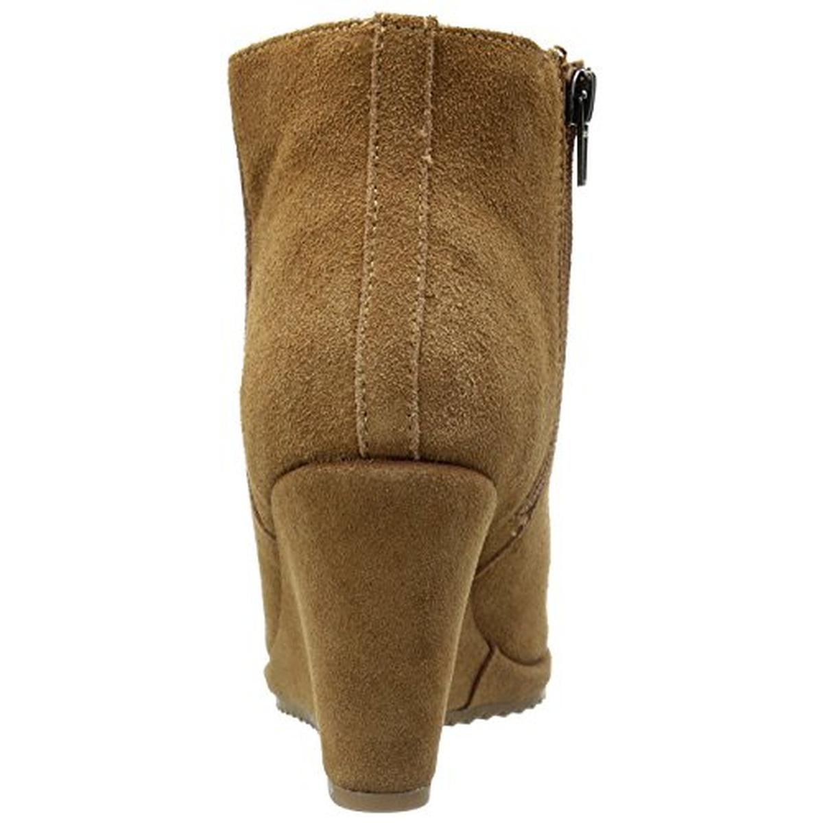 dolce vita 0597 womens piscal suede ankle wedge boots