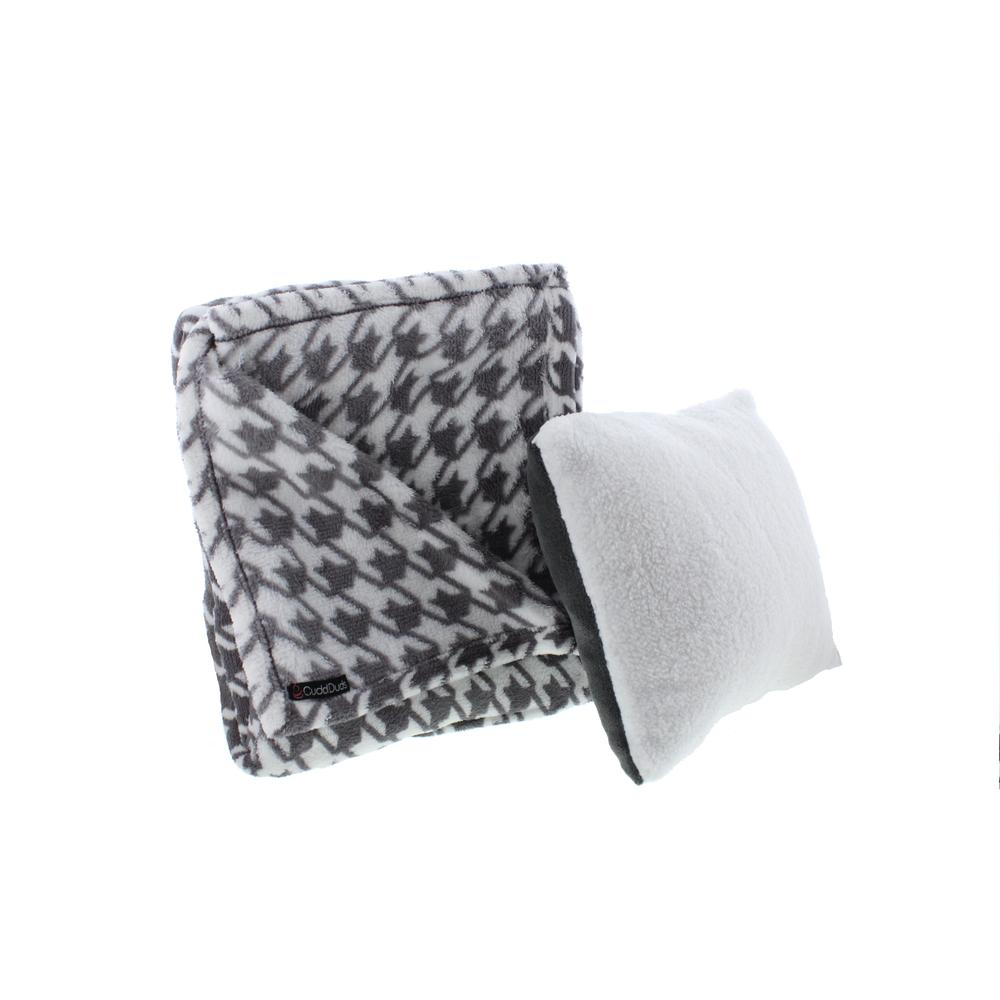 Cuddl Duds 9648 New Gray Plush Houndstooth Throw Pillow Set Bedding BHFO eBay