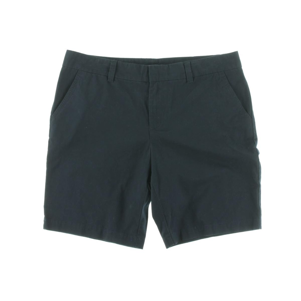 Tommy hilfiger 4216 womens twill flat front bermuda for Women s fishing shorts