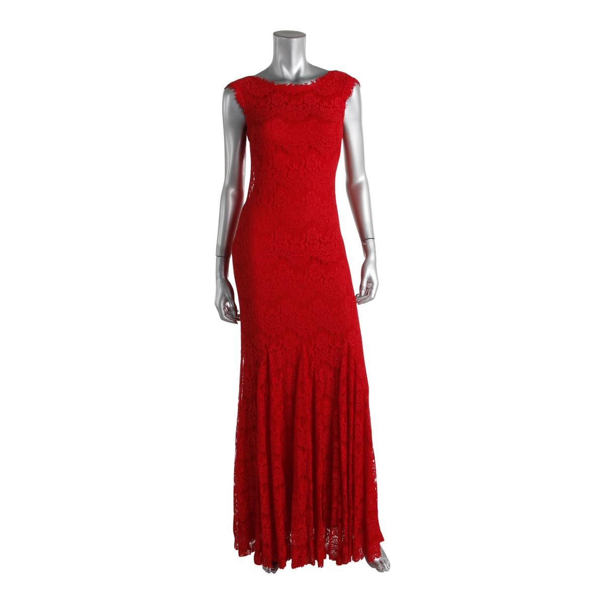 Aqua 6333 Womens Lace Prom Full Length Evening Dress Gown