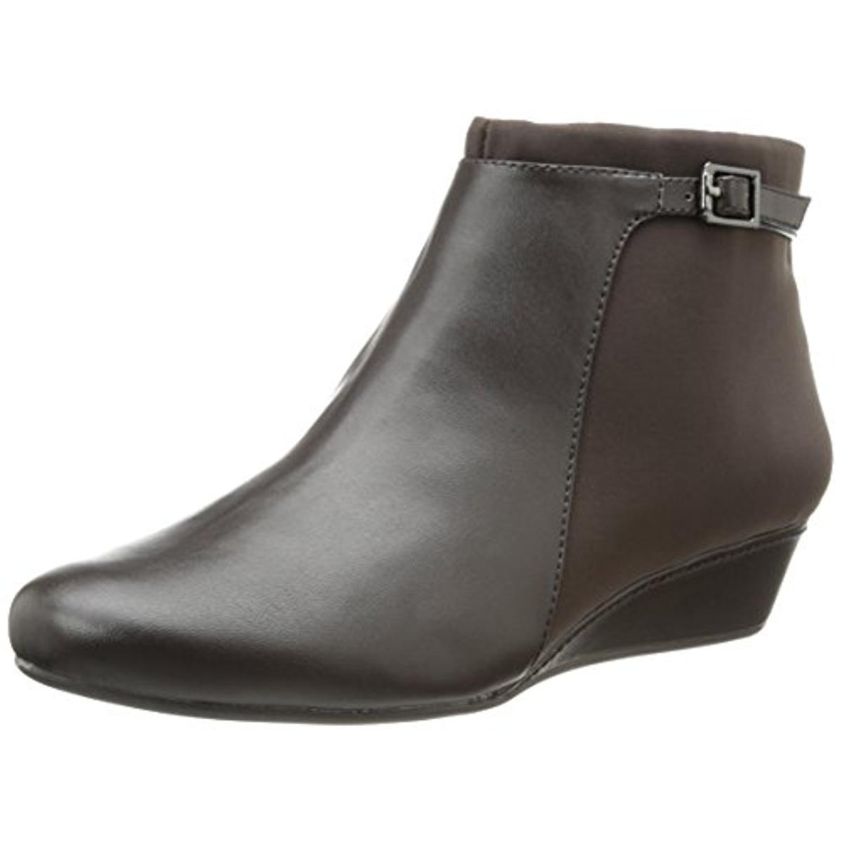 easy spirit 1540 womens dorzia faux leather belted ankle