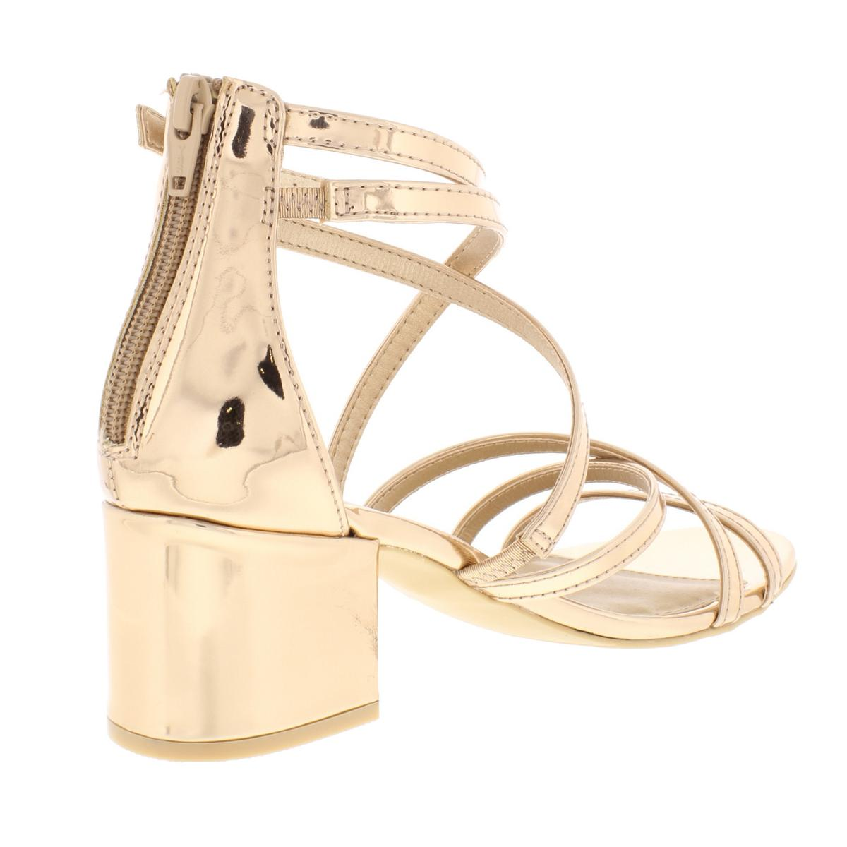 Material Girl Womens 191261988142 Patent Strappy Dress Sandals Evening BHFO 6927
