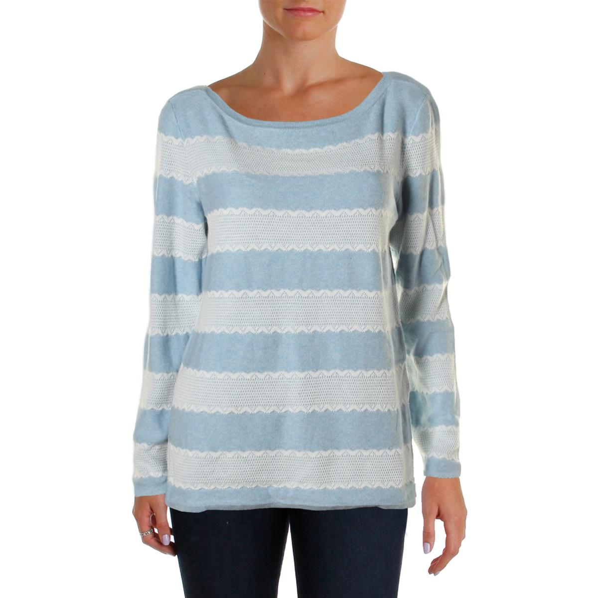 tommy hilfiger 2690 womens heathered lace trim boatneck pullover sweater bhfo ebay. Black Bedroom Furniture Sets. Home Design Ideas