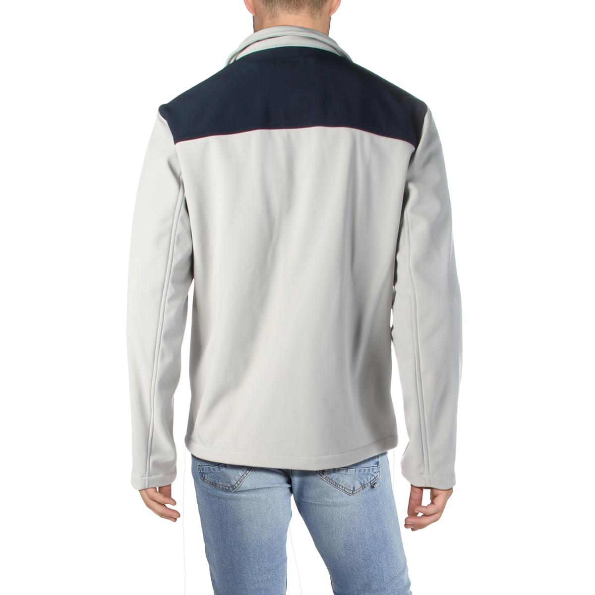 Tommy Hilfiger Mens Water Resistant Bomber Soft Shell Jacket Outerwear BHFO 6752