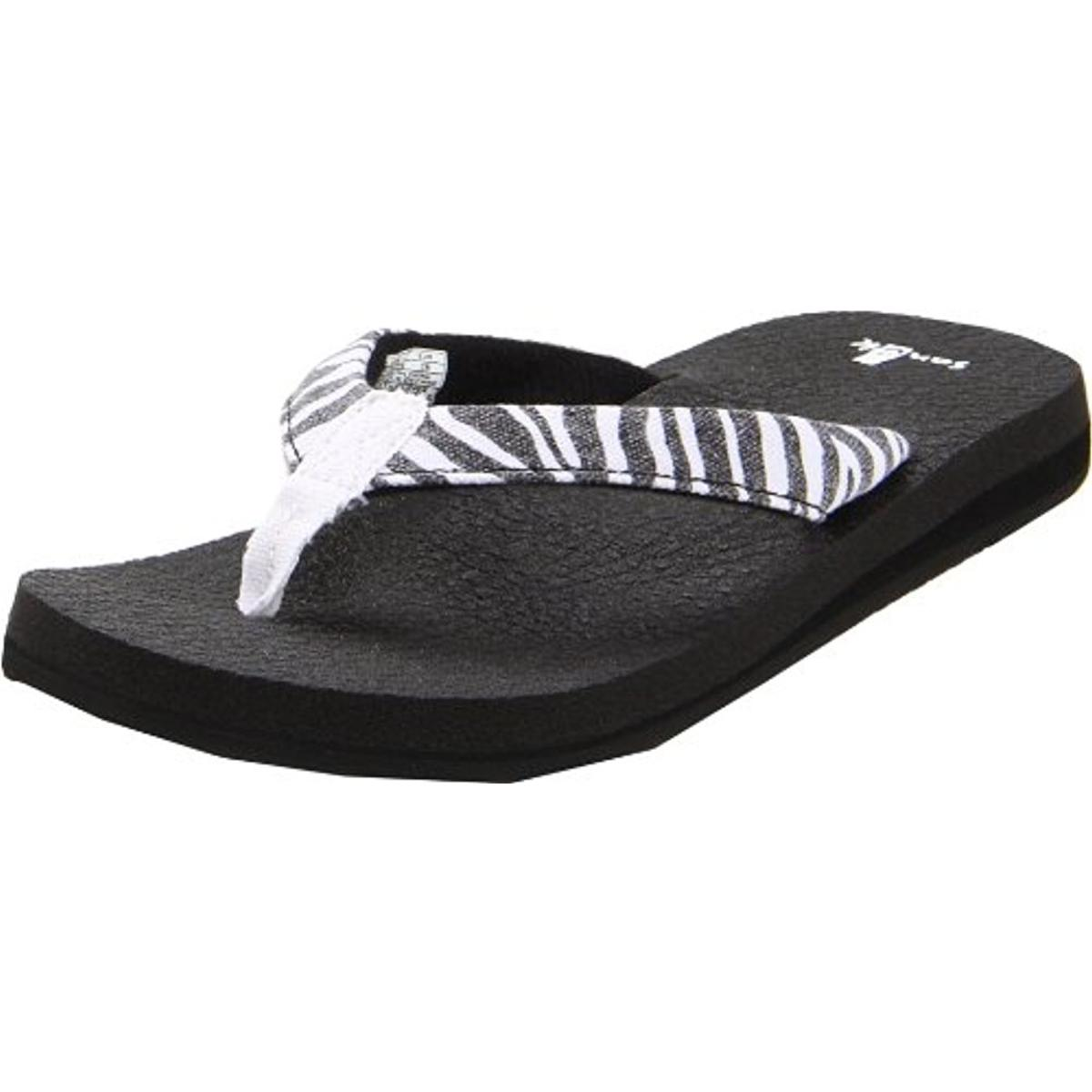 Sanuk Yoga Shoes Amazon: Sanuk 8696 Womens Yoga Wildlife Canvas Sandals Flip-Flops