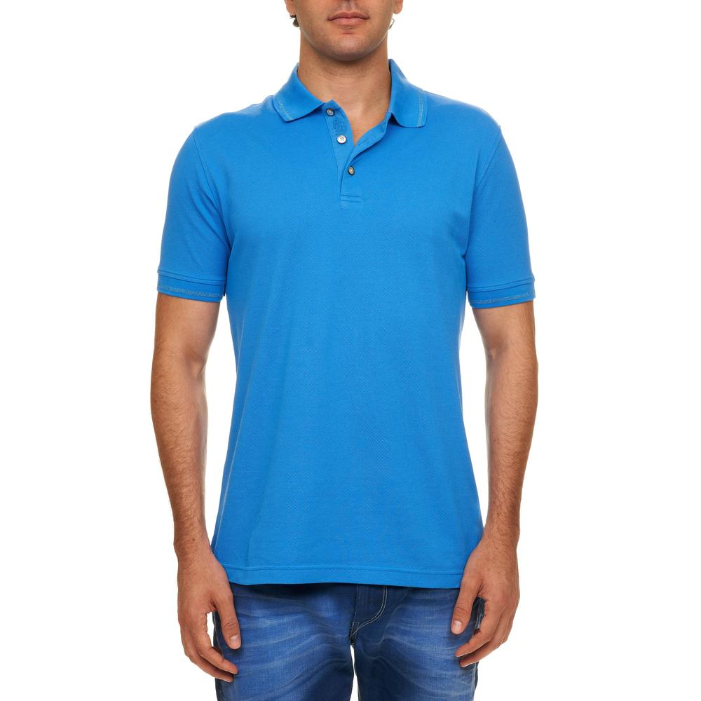 Robert graham 2772 new mens numero blue pique polo shirt for Robert graham tall shirts