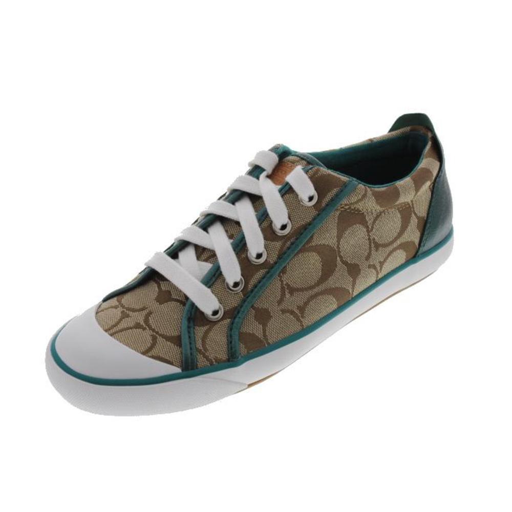 coach new barrett canvas signature fashion sneakers
