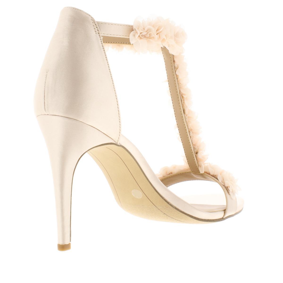 INC Womens Rosiee 2 Satin T-Strap Stiletto Dress Sandals Heels BHFO 7677