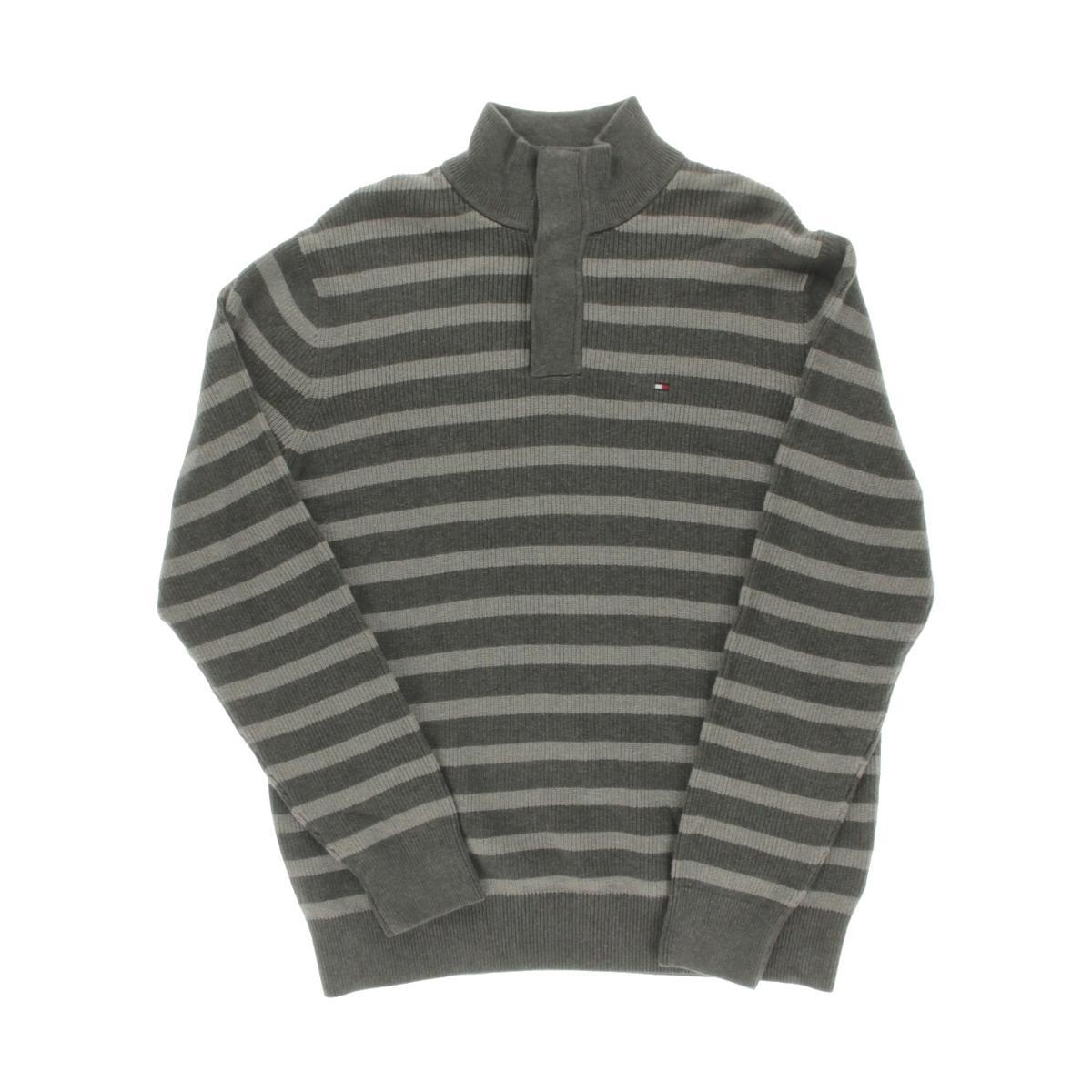 tommy hilfiger 8537 mens striped long sleeves mock collar. Black Bedroom Furniture Sets. Home Design Ideas