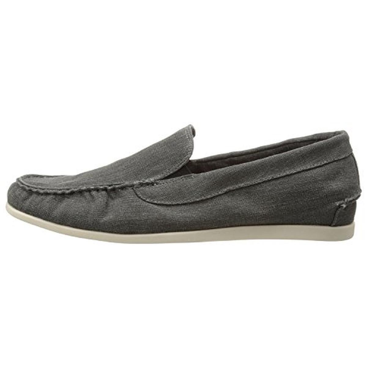 steve madden 0576 mens hoist linen canvas casual loafers