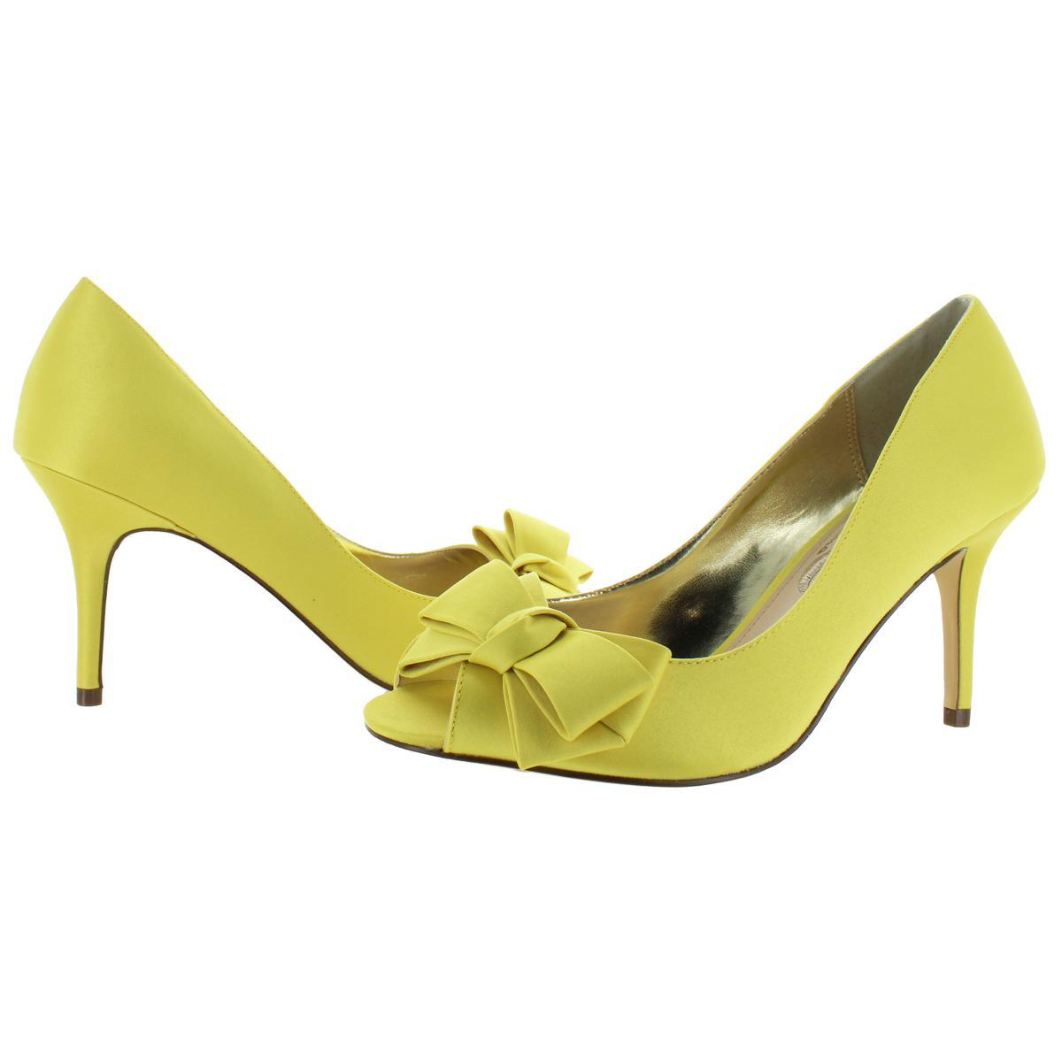 Nina Womens Florice Satin Open Toe Dress Heels Shoes BHFO 3797
