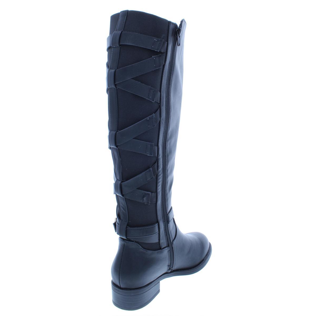 Thalia Sodi Womens Veronika Faux Leather Over-The-Knee Boots Shoes BHFO 4699