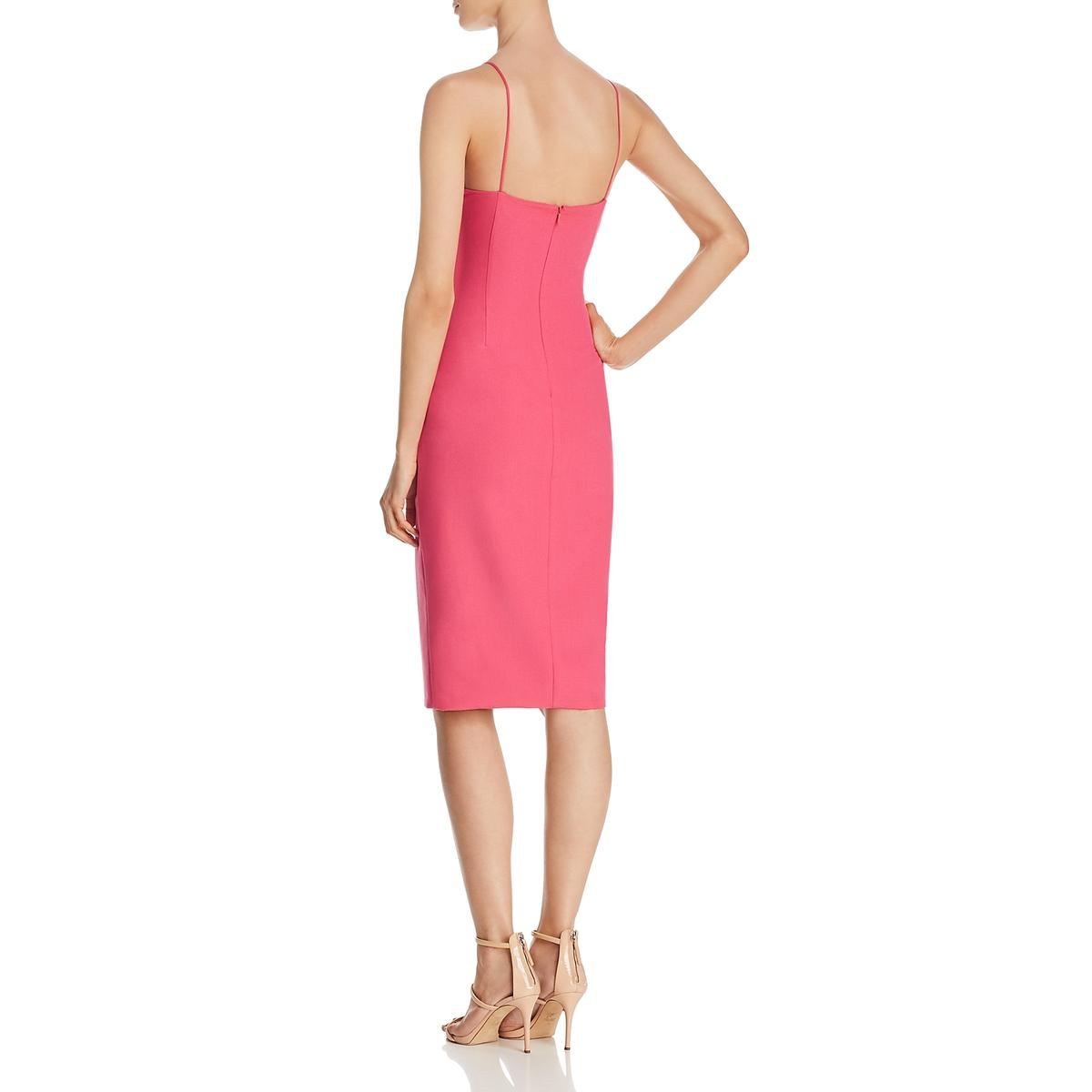 Black Halo Womens Bowery Ruched Cocktail Party Sheath Dress BHFO 7460