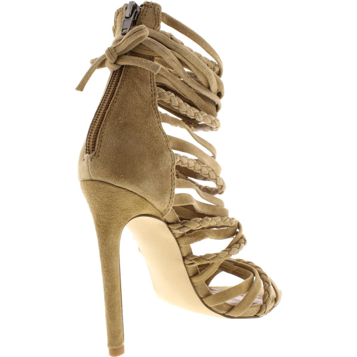 Steve Madden Womens Drexel Suede Stiletto Dress Sandals Shoes BHFO 2267