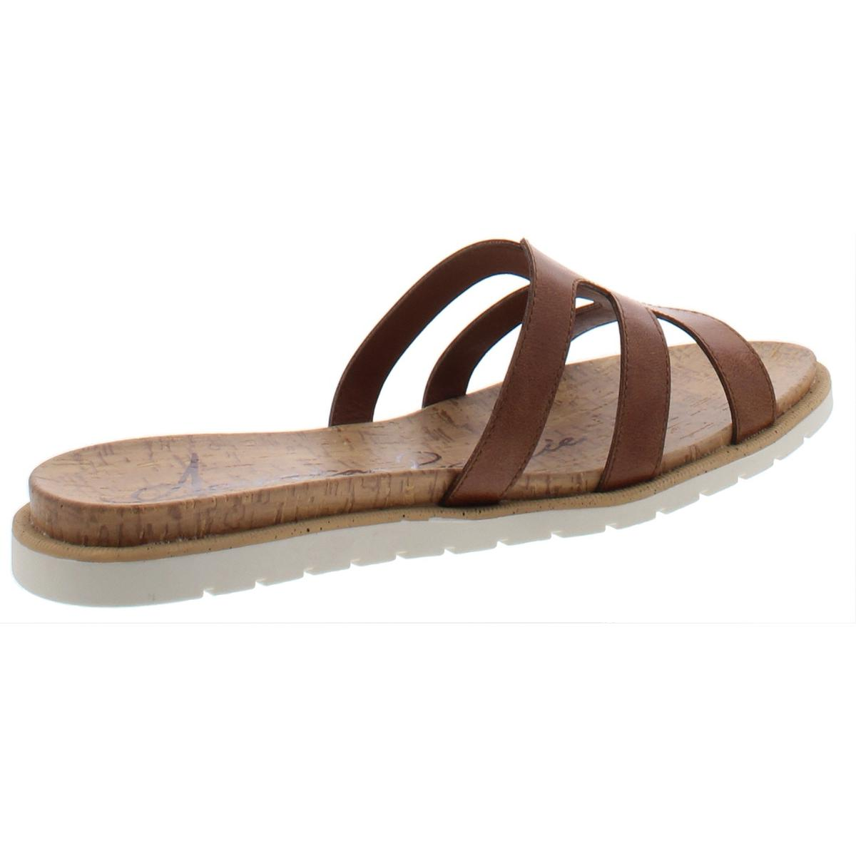 American Rag Womens Danah Faux Leather Slip On Casual Flats Shoes BHFO 0402