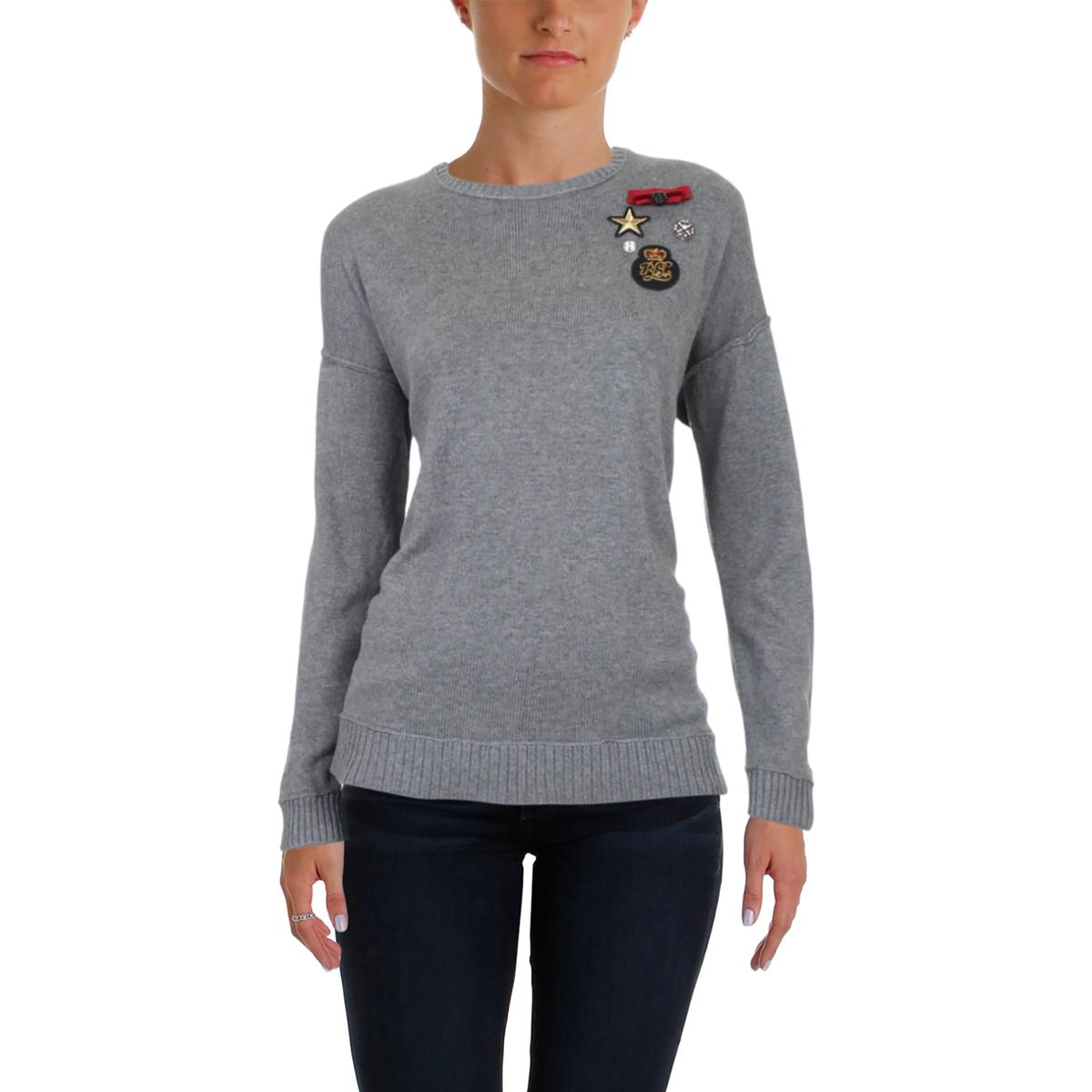 baaf879018 Ralph Lauren Womens Embellished Military Patch Pullover Sweater