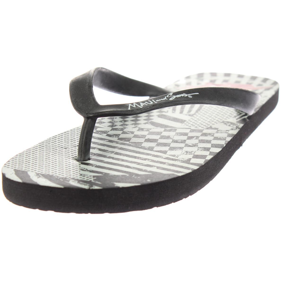 Maui and Sons Mens Graphic Slide Flip-Flops Sandals BHFO 6946